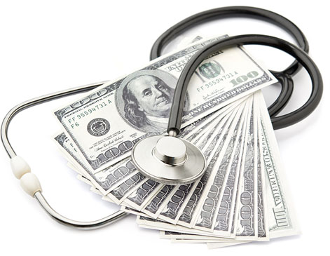 Stethoscope with Money