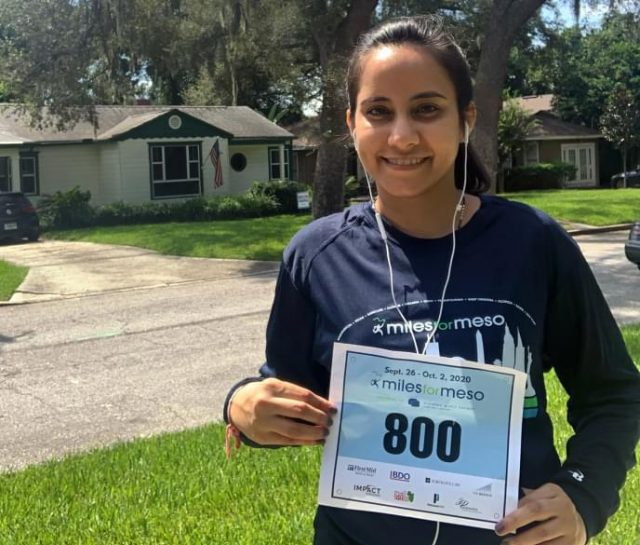 Dr. Snehal Smart participating in Miles for Meso