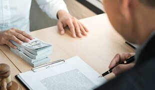 Signing a financial document